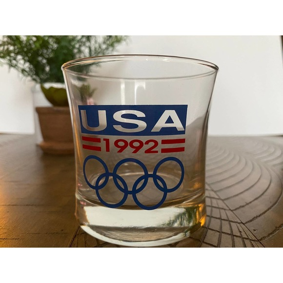 Set of 3 Vintage 1992 Olympic Lowball Glasses